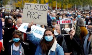 Biểu tình rầm rộ toàn nước Pháp sau vụ thầy giáo bị chặt đầu