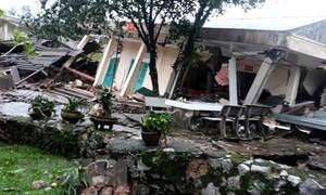 Sạt lở làm sập Đồn biên phòng ở Quảng Bình, không có thiệt hại về người