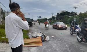 Cụ bà 71 tuổi chạy xe máy tử vong nghi do tai nạn với xe ben
