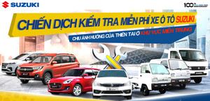 Suzuki kiểm tra xe và thay dầu động cơ miễn phí