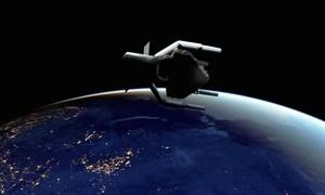 Clip cận cảnh mô hình tàu dọn dẹp rác thải trong vũ trụ