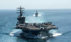 Tàu sân bay Mỹ trở lại Vùng Vịnh sau vụ nhà khoa học hạt nhân Iran bị ám sát