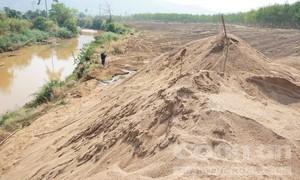 Địa bàn biên giới nhưng liên tiếp xảy ra khai cát trái phép