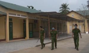 Công an tuần tra 24/24 bảo đảm an ninh tại khu cách ly