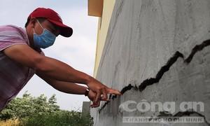 Vụ ngôi trường mới xây đã hư: Sửa xong lại hư tiếp