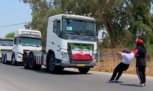 Clip anh em lực sĩ Iran dùng răng kéo đầu xe container nặng hàng tấn