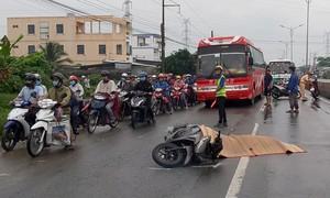 Thiếu nữ bị xe khách cán qua người tử vong sau va chạm liên hoàn