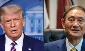 Trump điện đàm với tân thủ tướng Nhật Suga về thách thức từ Trung Quốc