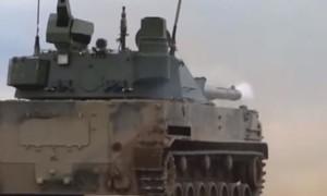 Clip Nga thử nghiệm hệ thống hỏa lực tự động trên xe tăng