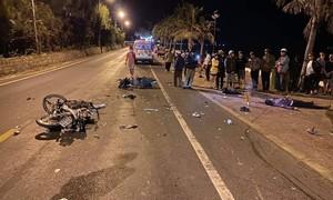 Xe máy tông trực diện, 2 người chết, 1 người bị thương