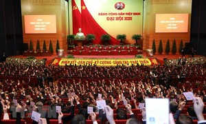 Các đại biểu chia sẻ cảm xúc được dự Đại hội XIII của Đảng