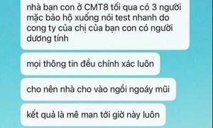Tại TPHCM không có vụ việc 'giả nhân viên y tế test COVID-19 để cướp' như MXH đăng tải