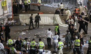 Giẫm đạp ở lễ hội tôn giáo ở Israel khiến hàng chục người chết