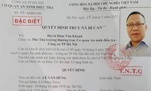 Truy nã Lê Dũng Vova về tội phát tán thông tin chống phá Nhà nước