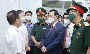 Chủ tịch Quốc hội làm việc với Học viện Quân y về nghiên cứu, sản xuất vaccine