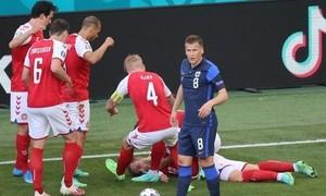 Clip cận cảnh cầu thủ Eriksen gục trên sân