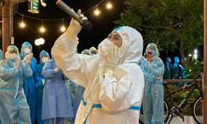 Phương Thanh, Quốc Đại hát cổ vũ ở bệnh viện, khu cách ly