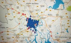 TPHCM: Dùng ĐTDĐ, máy tính truy cập bản đồ hỗ trợ phòng chống dịch