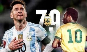 Messi lập hattrick, phá kỷ lục của Pele ở Nam Mỹ
