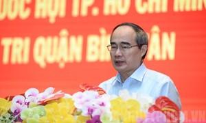 Cử tri kiến nghị nhiều vấn đề với Bí thư Thành ủy Nguyễn Thiện Nhân