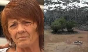 Người phụ nữ thoát chết sau 3 ngày đi lạc nhờ viết chữ SOS trên đất