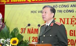 Bộ trưởng Tô Lâm chúc mừng các Nhà giáo trong lực lượng Công an nhân dân