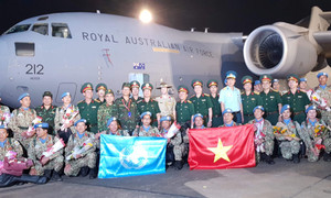 Quân y Việt Nam về nước sau khi hoàn thành nhiệm vụ tại Nam Sudan