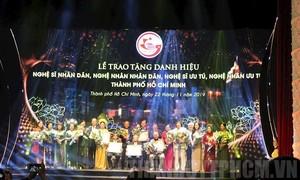 TPHCM vinh danh 77 nghệ sỹ, nghệ nhân được tặng danh hiệu Nhà nước