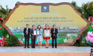 Vinhomes Ocean Park đạt hai kỷ lục cho dự án thành phố biển hồ