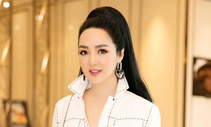 Hoa hậu Đền Hùng Giáng My đẹp rực rỡ trong sắc trắng