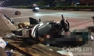 Phóng nhanh, tông cột đèn giao thông, thanh niên tử nạn tại chỗ