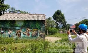 Cám cảnh với dự án vườn hoa, tranh 3D ở xã miền núi