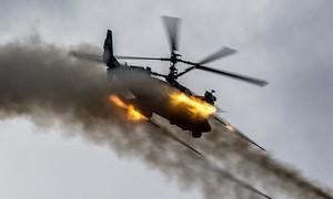 Cận cảnh Trực thăng Ka-52 phóng loạt rocket 80mm