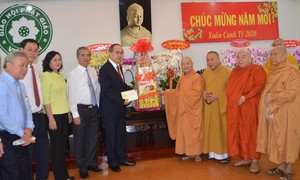 Bí thư Thành ủy TPHCM chúc Tết các chức sắc, tổ chức tôn giáo