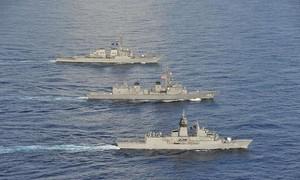 Mỹ, Nhật, Úc tập trận chung 3 bên trên Biển Đông