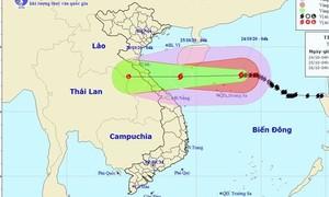Từ Hà Tĩnh đến Quảng Trị ảnh hưởng bão số 8 nhiều nhất vào 2 ngày cuối tuần