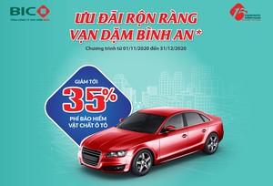 Ưu đãi hấp dẫn dành tặng khách hàng mua bảo hiểm ô tô tại BIC