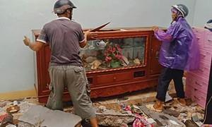 Hình ảnh, clip bão quăng quật khiến nhiều nơi ở Quảng Ngãi tan hoang