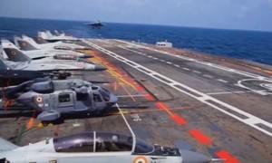 Clip 'bộ tứ kim cương' tập trận ở biển Ả Rập răn đe Trung Quốc
