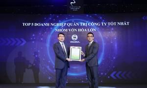"""Vinamilk """"bội thu"""" giải thưởng về quản trị công ty"""