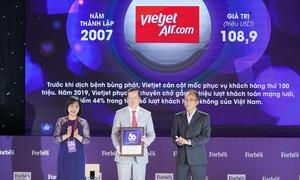 Vietjet vào Top 50 thương hiệu dẫn đầu 2020 do Forbes bình chọn