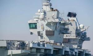 Clip tàu sân bay 4 tỷ USD của Anh ngập lênh láng vì vỡ ống nước