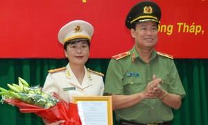 Công an tỉnh Đồng Tháp có nữ phó giám đốc