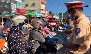 """CSGT Lâm Đồng: Tăng cường tuyên truyền """"Đã uống rượu bia, không lái xe"""""""