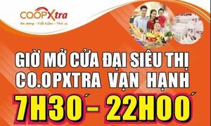 Co.opXtra Vạn Hạnh phục vụ người dân từ 7h30 đến 22h mỗi ngày