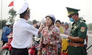 Bộ đội biên phòng ngăn chặn dịch bệnh ngay từ biên giới