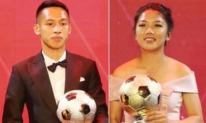 Đỗ Hùng Dũng và Huỳnh Như giành Quả bóng vàng Việt Nam