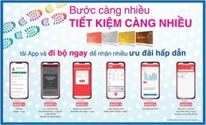 Khách hàng được Co.opmart chăm sóc sức khỏe bằng ứng dụng trên ĐTDĐ
