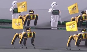 Clip Nhật sử dụng dàn rô bốt múa cổ động gây kinh ngạc