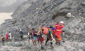 Sập mỏ ngọc bích ở Myanmar, ít nhất 113 người chết